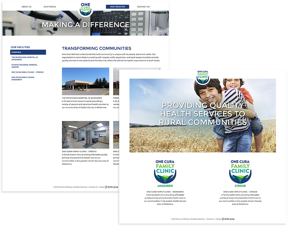 One Cura Wellness and One Cura Family Clinics Web Design by Bynder Group