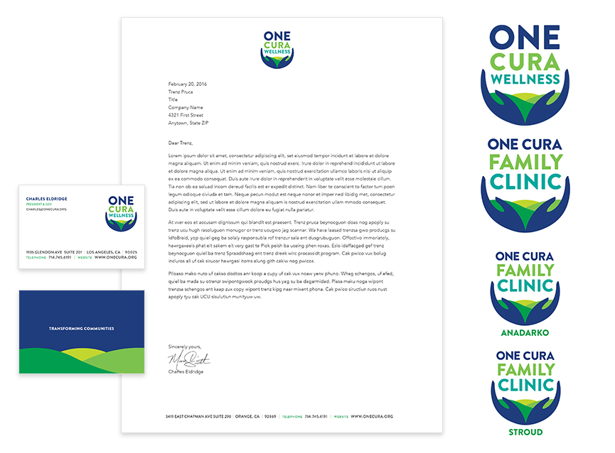 One Cura Wellness and One Cura Family Clinic Logo Design and Branding by Bynder Group